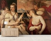 The Education of Cupid, c.1565 (oil on canvas) mural wallpaper living room preview
