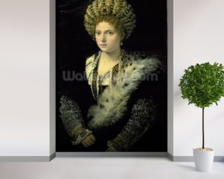 Portrait of Isabella dEste (1474-1539) mural wallpaper