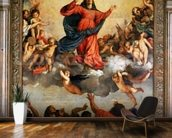 The Assumption of the Virgin, 1516-18 (oil on canvas) wall mural kitchen preview