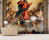 The Assumption of the Virgin, 1516-18 (oil on canvas) wall mural living room preview