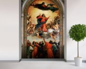 The Assumption of the Virgin, 1516-18 (oil on canvas) wall mural in-room view