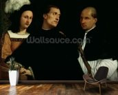 Interrupted Concert, c.1512 (oil on canvas) mural wallpaper kitchen preview