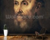 Portrait of John Calvin (1509-64) (oil on canvas) wall mural kitchen preview