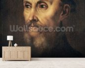 Portrait of John Calvin (1509-64) (oil on canvas) wall mural living room preview