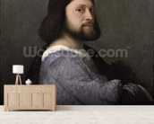 Portrait of a Man, c.1512 (oil on canvas) mural wallpaper living room preview