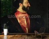 Portrait of Francis I (1494-1547) 1538 (oil on canvas) wallpaper mural kitchen preview