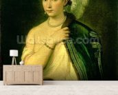 Female Portrait, c.1536 (oil on canvas) wallpaper mural living room preview