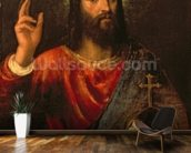 Christ Saviour, c.1570 (oil on canvas) mural wallpaper kitchen preview