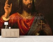 Christ Saviour, c.1570 (oil on canvas) mural wallpaper living room preview