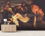The Entombment of Christ (oil on canvas) wall mural living room preview