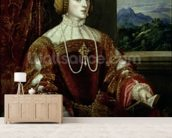 Portrait of the Empress Isabella of Portugal, 1548 wallpaper mural living room preview