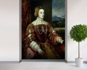Portrait of the Empress Isabella of Portugal, 1548 wallpaper mural in-room view