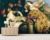 The Entombment of Christ mural wallpaper living room preview