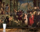 Ecce Homo, 1543 (oil on canvas) wallpaper mural kitchen preview