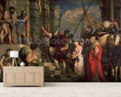 Ecce Homo, 1543 (oil on canvas) wallpaper mural living room preview