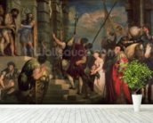 Ecce Homo, 1543 (oil on canvas) wallpaper mural in-room view
