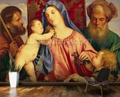 Madonna of the Cherries with Joseph, St. Zacharias and John the Baptist (panel) wall mural kitchen preview