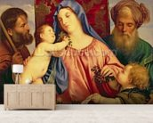 Madonna of the Cherries with Joseph, St. Zacharias and John the Baptist (panel) wall mural living room preview