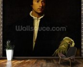 The Man with a Glove, c.1520 (oil on canvas) wall mural kitchen preview