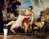 Venus and Adonis, 1553 (oil on canvas) wallpaper mural kitchen preview