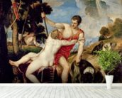Venus and Adonis, 1553 (oil on canvas) wallpaper mural in-room view