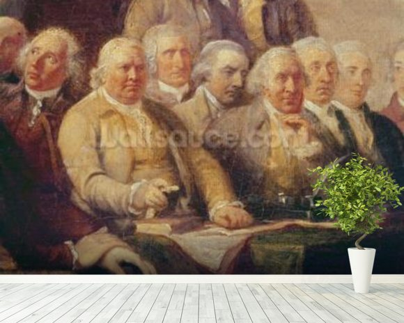 Drafting the Declaration of Independence, 28th June 1776, c.1817 (oil on canvas) (detail of 228826) wall mural room setting