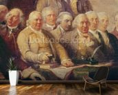 Drafting the Declaration of Independence, 28th June 1776, c.1817 (oil on canvas) (detail of 228826) wall mural kitchen preview