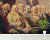 Drafting the Declaration of Independence, 28th June 1776, c.1817 (oil on canvas) (detail of 228826) wall mural in-room view