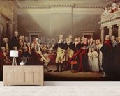 The Resignation of George Washington on 23rd December 1783, c.1822 (oil on canvas) wallpaper mural living room preview