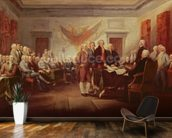 Signing the Declaration of Independence, 4th July 1776, c.1817 (oil on canvas) mural wallpaper kitchen preview