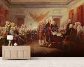 Signing the Declaration of Independence, 4th July 1776, c.1817 (oil on canvas) mural wallpaper living room preview