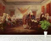 Signing the Declaration of Independence, 4th July 1776, c.1817 (oil on canvas) mural wallpaper in-room view