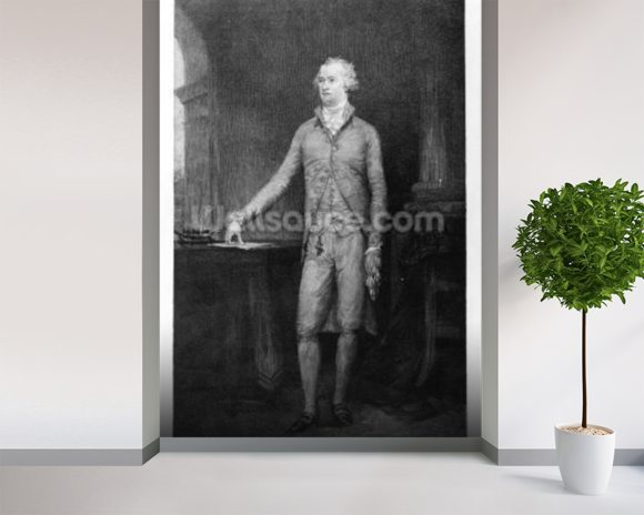 Alexander Hamilton, after the painting of 1792 (engraving) wall mural room setting