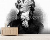 Alexander Hamilton, engraved by Albert Rosenthal, 1888 (engraving) wallpaper mural living room preview