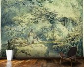 The Angler, 1794 (w/c over graphite on paper) wallpaper mural kitchen preview