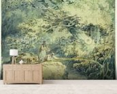 The Angler, 1794 (w/c over graphite on paper) wallpaper mural living room preview