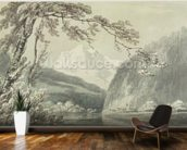 Near Grindelwald, c.1796 (blue & grey wash over graphite on paper) mural wallpaper kitchen preview