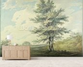 Landscape with Trees and Figures, c.1796 (w/c over graphite on paper) wall mural living room preview
