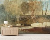 On the Washburn, c.1815 (w/c & graphite with white highlighting on paper) wall mural living room preview