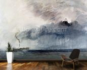 Steamboat in a Storm, c.1841 (w/c & pencil on paper) mural wallpaper kitchen preview