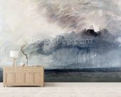 Steamboat in a Storm, c.1841 (w/c & pencil on paper) mural wallpaper living room preview