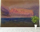 Corsica, (Monaco?) c.1830-35 (w/c on brown paper) wall mural in-room view