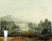 Villa Salviati on the Arno, c.1796-97 (w/c on pencil on paper laid on mount) mural wallpaper kitchen preview