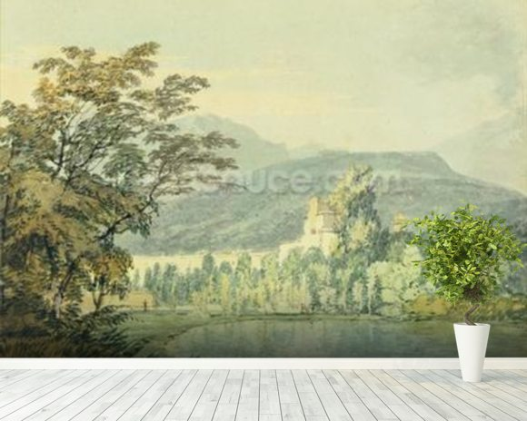 Sir William Hamiltons Villa, c.1795 (w/c over pencil on paper) wall mural room setting