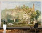 Steeton Manor House, near Farnley, c.1815-18 (w/c on paper) mural wallpaper kitchen preview