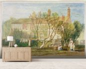 Steeton Manor House, near Farnley, c.1815-18 (w/c on paper) mural wallpaper living room preview