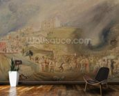 St. Catherines Hill, Guildford, Surrey, 1830 (w/c and graphite on paper) wallpaper mural kitchen preview