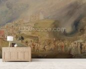 St. Catherines Hill, Guildford, Surrey, 1830 (w/c and graphite on paper) wallpaper mural living room preview