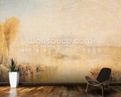 View of the Pont Neuf, Paris (oil on canvas) mural wallpaper kitchen preview