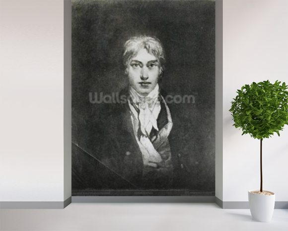 Self portrait, 1798 (oil on canvas) (b/w photo) wall mural room setting